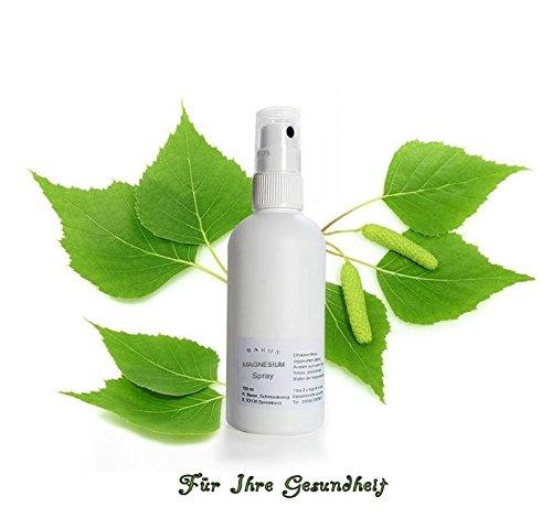 Baron's Magnesium Spray, Handliche 100 ml Pumpflasche, zur sofortigen Verwendung/Anwendung