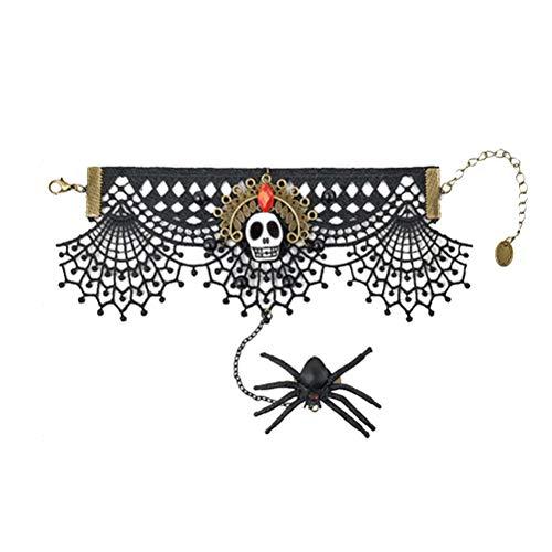 Amosfun Halloween Lace Armband Gothic Lace Armband Punk Party Zubehör (Beste Freundin Einzigartige Halloween-kostüme)