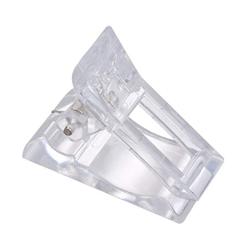 Anself - Set di 5 clip per unghie in poligelo trasparente, per nail art, per manicure e nail art