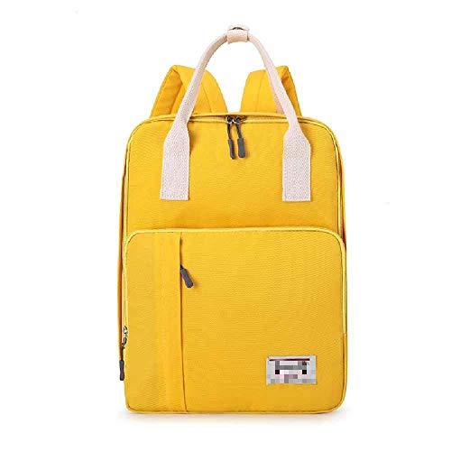 YJZZ Neue Japanische Mombag Lässig Große Kapazität Mutter Und Baby Schultertasche Reisen Aus Mutter Und Baby-Tasche 20L oder weniger/gelb