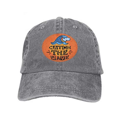 Baseball Caps Cowboy Hats Sun Hats Surfing surf Themed Print Design Hand Drawn Traditional Old Gray