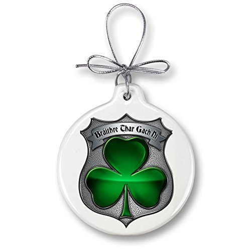 - Police Gifts for Men or Women - Law Enforcement Ornaments with a Silver Ribbon - Policeman's Brotherhood Irish Xmas Ornaments Packaged in a White Gift Box by Erazor Bits (Irish Christmas Ornamente)