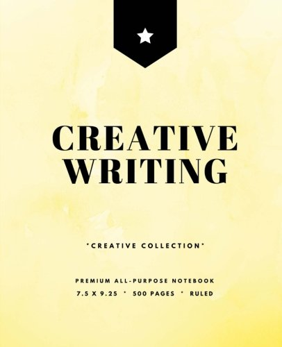 creative-writing-writers-notebook-500-pages-softcover-yellow-75-x-925-in