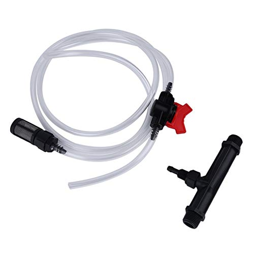 20mm Venturi +Irrigation Water Tube with Flow Control Switch & Filter Kit Black & clear -