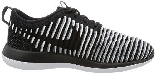 Nike W Roshe Two Flyknit, Chaussures De Course À Pied Pour Femme Noir (noir (noir / Noir-blanc-gris))