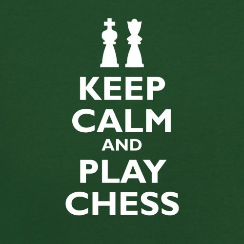 Keep Calm and Play Chess - Herren T-Shirt - 13 Farben Flaschengrün