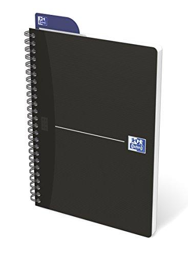 Oxford 100102565 quaderno spiralato formato a5 180 pagine carta 90gr rigatura 5mm, app scribzee, nero