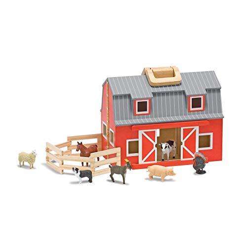 Melissa & doug 13700 - fienile in legno piega e vai