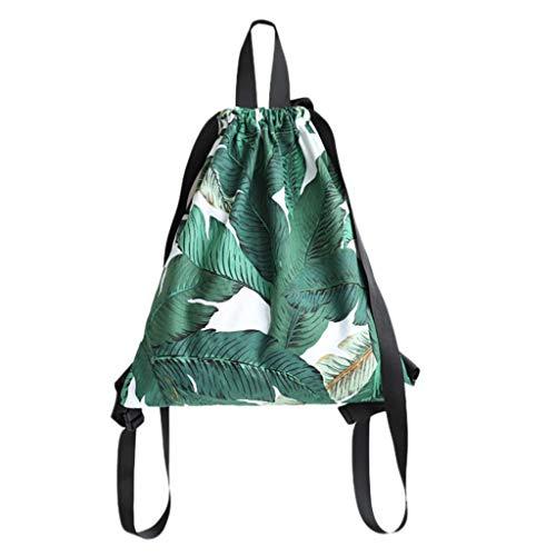 GKOKOD-Backpack 2019 Mädchen Segeltuch Schulter Tasche, Mode Klein Frisch Kunst Rucksack Damen Drucken Tunnelzug Rucksack, Schultasche FüR Mädchen Scout