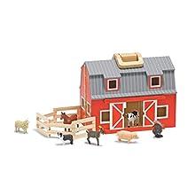Melissa & Doug Fold & Go Barn | Pretend Play | Play Set | 3+ | Gift for Boy or Girl