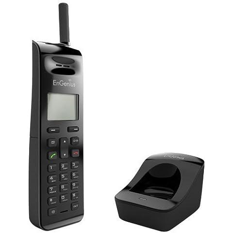 Engenius EP802H Extreme Long Range Additional Cordless Single Telephone - Black by EnGenius