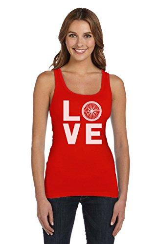 Love Fahrrad - Cooles Geschenk für Sportfans Frauen Tank Top Rot