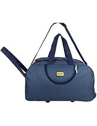Generic Navy Blue Fabric Travel Duffle Bag