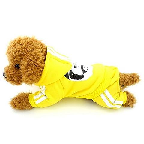 Ranphy Petit Chien Vêtements pour filles garçons épais chaud Panda Sweat à capuche Chien Ange Polaire