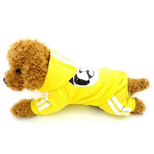Ranphy Cane Gatto Felpe Spessa Panda Caldo Cappucci Chihuahua Puppy Tuta Yorkie Vestiti per Piccolo Cane