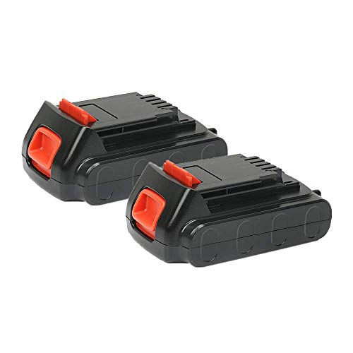 [2 Stück] REEXBON BL1518 Akku 18V Lithium-ion Ersatz Akku für Black & Decker BL2018 LBXR20 LBXR2020-OPE LB20 LBX20 BL2018-XJ GKC1825L GTC1850L20 STC1820 Werkzeugakkus