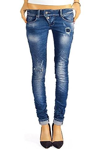 Bestyledberlin Damen Jeans Hosen Skinny Röhren Hüftjeans Destroyed j3xx