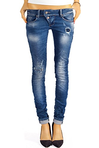 Bestyledberlin Damen Jeans Hosen Skinny Röhren Hüftjeans Destroyed j3xx 36/S
