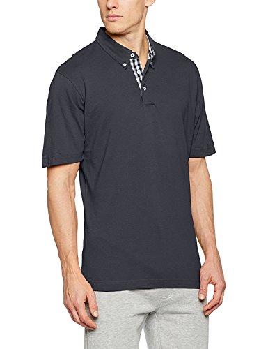 James+Nicholson Plain Poloshirt mit modischem Karoeinsatz JN 964, Größe:L;Farbe:Graphite (Solid)/Graphite (Solid)/White L,Graphite (Solid)/Graphite (Solid)/White - Herren Pique Polo Solid