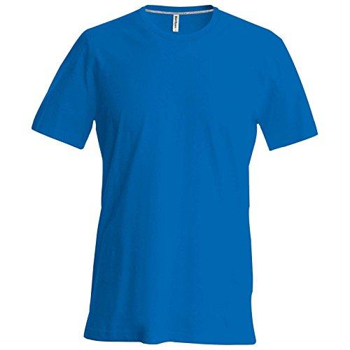 Neue Karibann Herren, Baumwolle Short Sleeve Crew Neck T-Shirt Blau - Königsblau