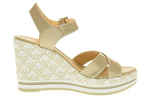 NERO GIARDINI scarpe donna sandali zeppa P717700D/410 Sabbia