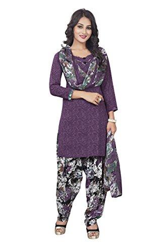 Parihar Collections Women'S Crepe Dress Material Dress Material