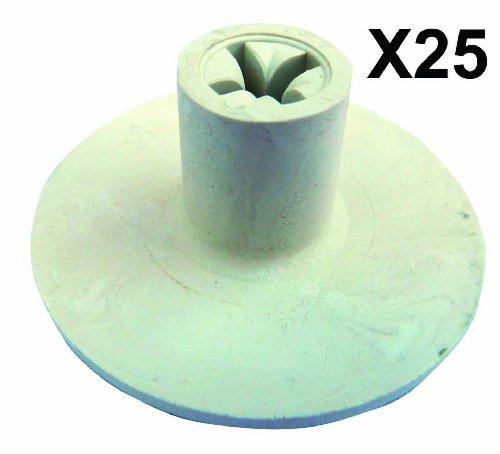 Golf Rubber Tee's - White Criss Cross Tee Peg - Pack of 25 -