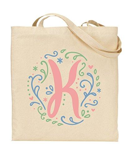 76DinahJordan Swirly Girly Monogramm Tasche Flower Girl Tote Staubbeutel für Hochzeiten Mädchen Bibliothek Tasche Schule Buch Tote