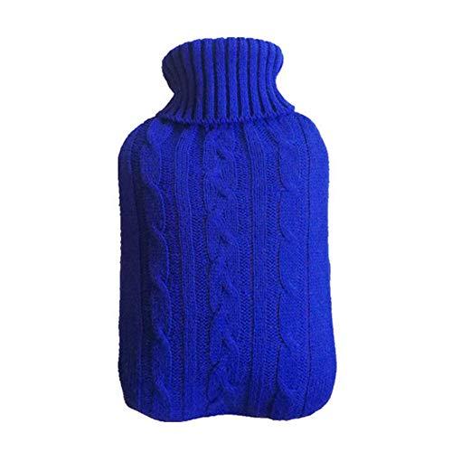 Bobopai 1x Knitted Cover for Hot Water Bottle 2000ml - Knitted Insulator - Cover only (Hot Water Bottle not Included)-31 * 20cm- Dark Blue - Garden Pest-repeller