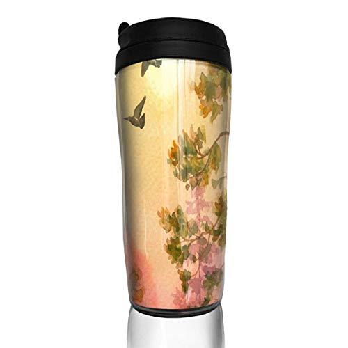 Custom Reusable Coffee Cup Cute & Colorful Dots Pattern Becher Vakuumisolierte Reisebecher Heiß oder Kalt, 12 Unzen mit Deckel