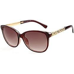 ADEWU Damen Sonnenbrille Braun Hellbraun