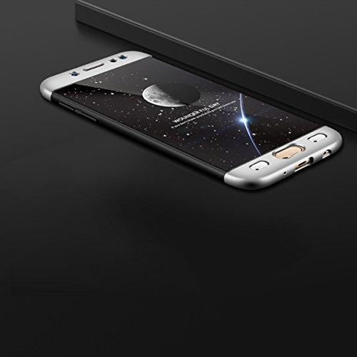 3 x Coque pour Samsung Galaxy J5 2017, Vandot Case Souple Housse Silicone Transparent en TPU Flexible Mince Etui Ultra Souple pour Samsung Galaxy J5 2017 J530 Anti-choc Anti-scratch Cover Ultra-mince  Bouclier-Noir+Blanc