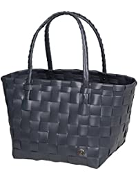 Unek Goods Handed By Paris Woven Reusable Shopping Tote Bag, Dark Grey