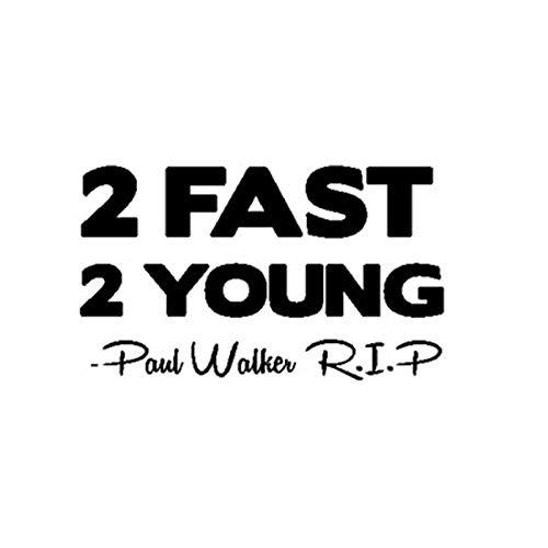 haotong11 15,2 * 9,4 cm Paul Walker 2 SCHNELLE 2 Junge RIP Cool Vinyl Auto Aufkleber Auto-Styling Aufkleber Zubehör 5 stücke -