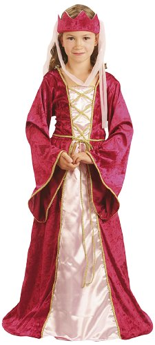 Party Partners 86815 Kinder-Kostüm Königin, 7-9 Jahre -Königin-