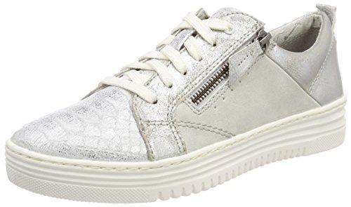Jana Damen 23701 Sneaker, weiß (offwhite comb), 40 EU