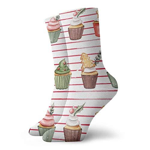 Thin Stripe Socks (Fun Dress Socks Holiday Cupcakes Thin Stripes Colorful Fashion Funky Cotton Sock 11.8Inch(30cm))