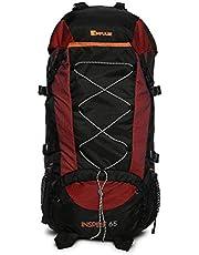 Impulse Waterproof Travelling Trekking Hiking Camping Bag Backpack Series 65 litres Black Inspire Rucksack