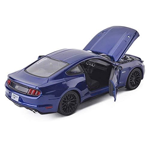 AIOJY Automodell Auto Druckguss Modell Sammlung Ornamente Kinderspielzeug Auto Ford Mustang GT Sportwagen Legierung Modell Fahrzeuge for Erwachsene Kinder Holz Und Mustang Kleinkinder Metall Auto (Drag Ford Link)