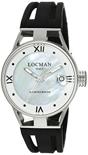 Locman Italy Women's 0521V02-00MA00SK Montecristo Lady Analog Display Quartz Black Watch