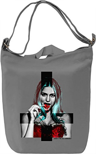 (Arent We All Sinners Leinwand Tagestasche Canvas Day Bag| 100% Premium Cotton Canvas| DTG Printing|)