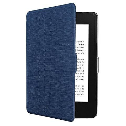 Tsing Kindle Paperwhite Hülle, Smartshell Case Kompatibel für Alle Kindle Paperwhite Die dünnste und Leichteste Schutzhülle (für Alle Vorgängermodelle von 2012, 2013, 2014 und Den Neuen Kindle Paperwhite 2015) (Blau)