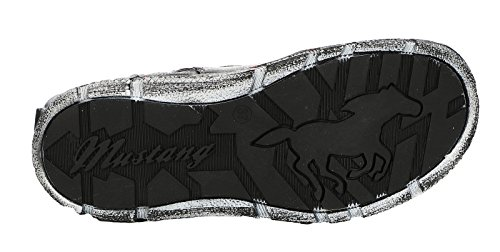 Mustang Damen Stiefel gefüttert Grau (Titan) Blau