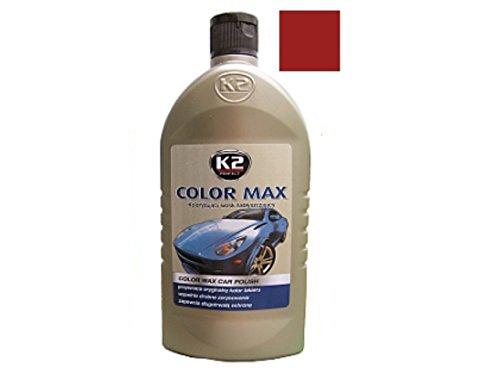 K2 COLOR MAX Weinrot Autopolitur Carnauba Wachs Farbpolitur KFZ Politur 500ml