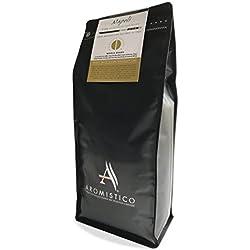 AROMISTICO | Strong Dark Roast | 1Kg Italienische Premium-geröstete ganze KAFFEEBOHNEN | NAPOLI | For Espresso, Moka, Filter, Cafetiere, Drip, Aeropress | SMOKY, MALTY & DARK CHOCOLATE-Like (1 KG)