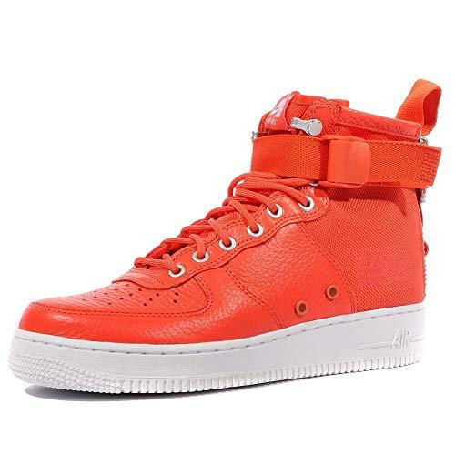 Nike Herren Wmns SF Air Force 1 Mid Schuhe aus Orange Leder und Stoff 917753-800