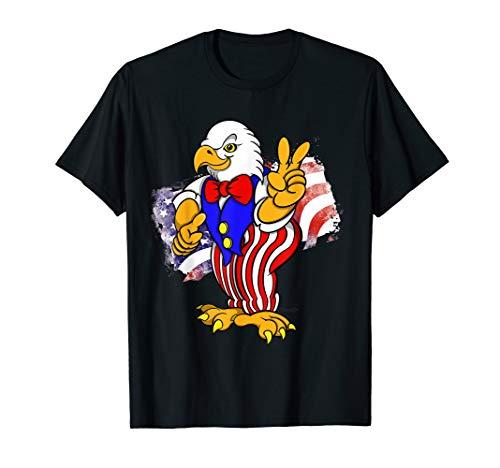 Kostüm Weißkopfseeadler - Patriotischer Weißkopfseeadler in Onkel Sam Kostüm T-Shirt