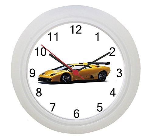 Lamborghini amarillo reloj de pared