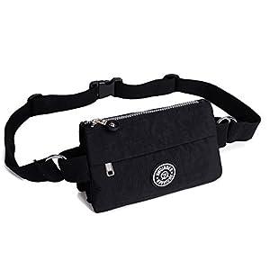 41mqBC9xl7L. SS300  - Badiya Women's Waist Bag Multifunction Lightweight Fanny Pack Adjustable Belt Bag