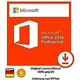 Microsoft® Office 2019 Professional 32 bit & 64 bit Vollversion Original Lizenzschlüssel per E-Mail und Post + Anleitung von TPFNet - Versand maximal 60Min